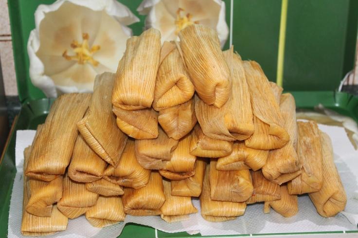 Tamales en La Candelaria